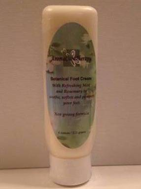 aromacaretherapy botanical foot cream Labels