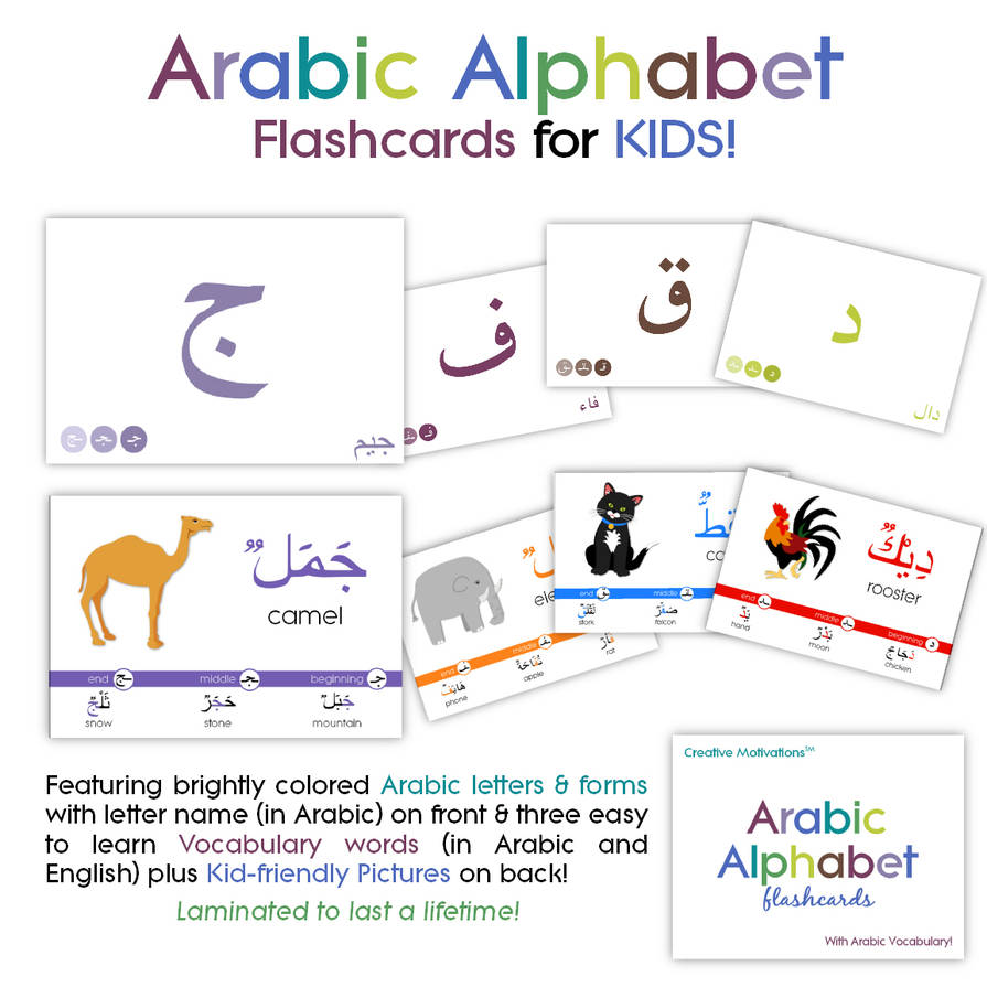 Custom Card Template online lables : Arabic Alphabet Flashcard Labels by Creative Motivations ...