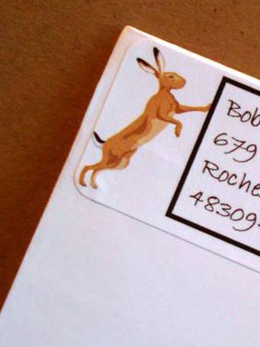 Rabbit Lovers Address Labels