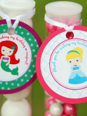 Princess Favor Tag Labels