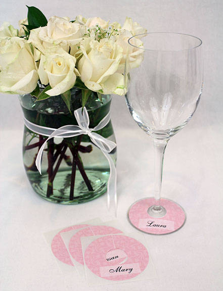 Customized Wine Glass Slippers by The Paper Shamrock - Customer