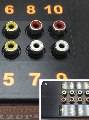 Affordable Buzzers interface box for computer quiz game buzzers