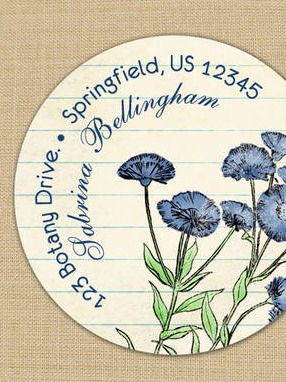 Blue Cornflower Address Labels