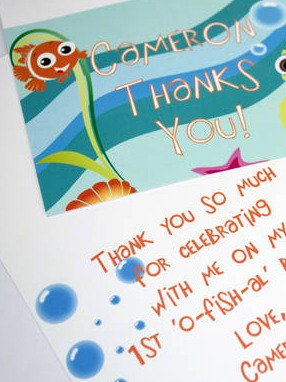 Under the sea party favor labels
