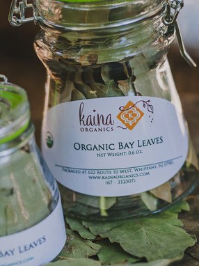 Labels for Fresh Organic Spices from Kaina Organics