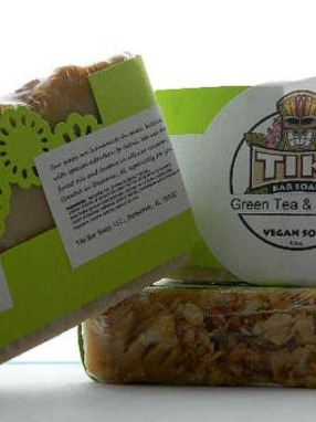 Green Tea and Jasmine Soap Labels