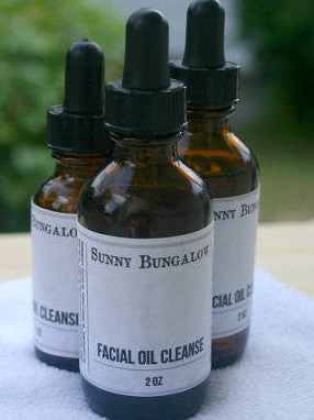 Facial Oil Cleansing Serum Labels