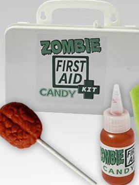 zombie first aid candy kit Labels