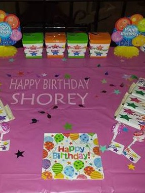 Birthday Party Table Labels