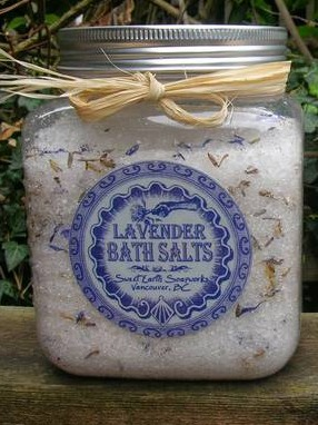 Bath Salts Labels from Sweet Earth Soapworks