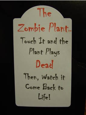 Product Labels for The Zombie Plant