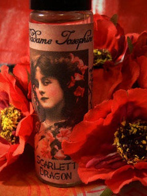 Scarlett Dragon Perfume Oil Labels by House of Madame Josephine