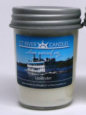 CT River Candles Soy Candles with Labels Featuring Connecticut River Photographs