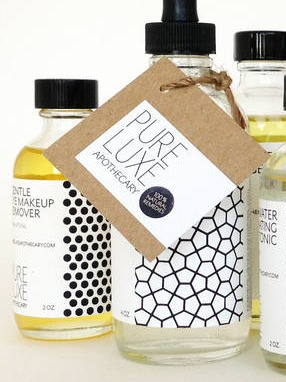 Product Labels for Pure Luxe Apothecary