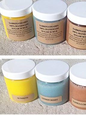 Product Labels for Sabrinashabby Sugar Scrub