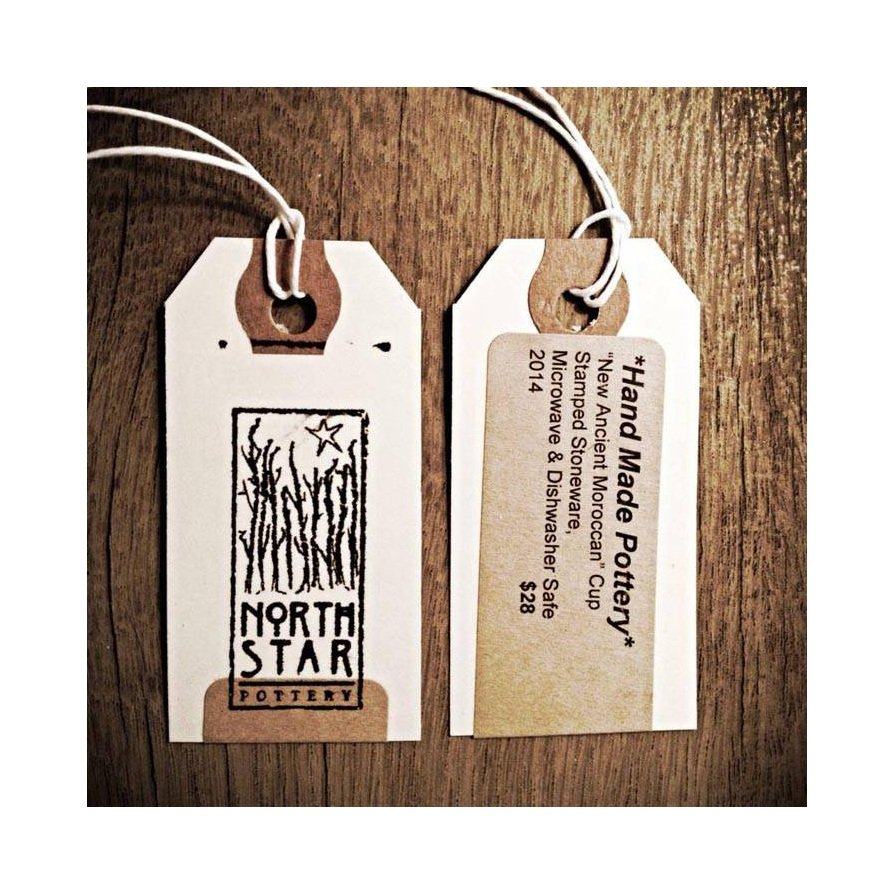 North Star Pottery Hang Tag - Customer Creations - Online Labels