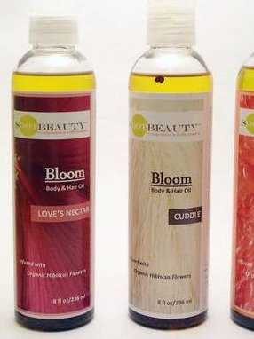 SDOTBEAUTY™ Bloom Body & Hair Oil label