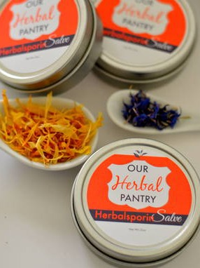 "Calendula Herbal Salve 2"" Round Labels"