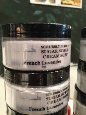 East End Soap Company Scrubbly Bubbly Cream Soap Sugar Scrub Label