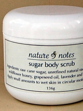 Sugar Shea Body Scrub Labels by Nature and Notes