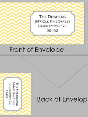 Retro Chevron Custom Wrap Around Envelope Labels by Posh Girl Boutique