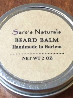 Beard Balm Labels by Sares Naturals