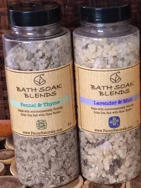 FancyNaturals Bath Soak Blends labels