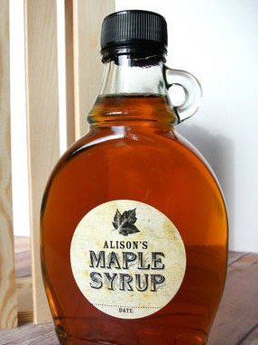 CanningCrafts Maple Syrup label