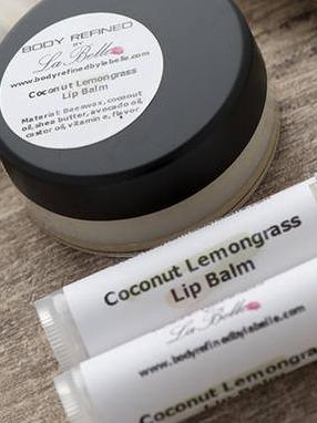 Coconut Lemongrass Lip Balm Labels