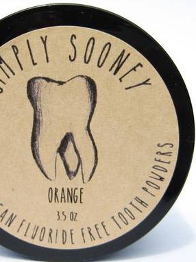 Labels for SimplySooney Organic Vegan Fluoride Free Tooth Powders