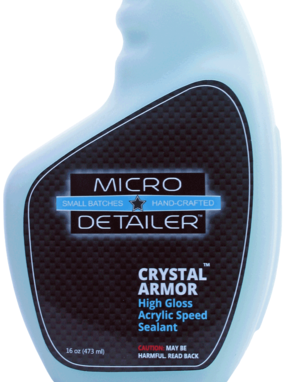 Micro Detailer Crystal Armor Acrylic Paint Sealant Label
