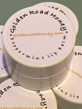 Golden Road Honey Lip Balm container labels