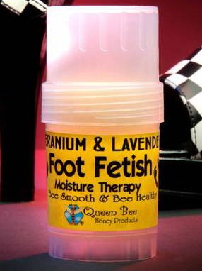 Product Labels for Queen Bee Honey Foot Fetish Therapy