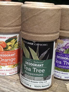 Rock River Soapworks All-Natural Deodorant Labels