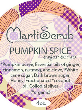 Pumpkin Spice Sugar Scrub Label