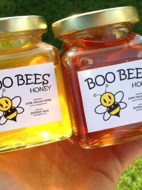 Boo Bees Honey Jar Labels