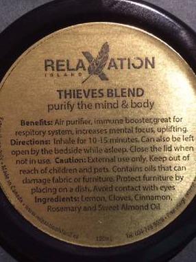 thieves oil aroma jar