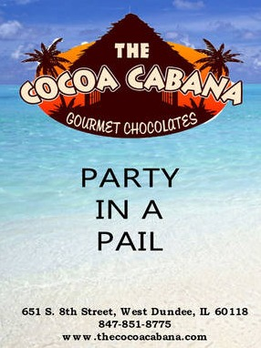 The Cocoa Cabana - Party In a Pail Label
