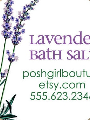 Round Bath & Body Labels - Lavender Bloom Bath Salts