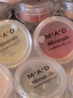 MAD Minerals Loose Powder 10 Gram Sifter Jars Clear Top Label