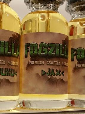 Fogzilla Vapors Premium Handcrafted E-Liquid Labels