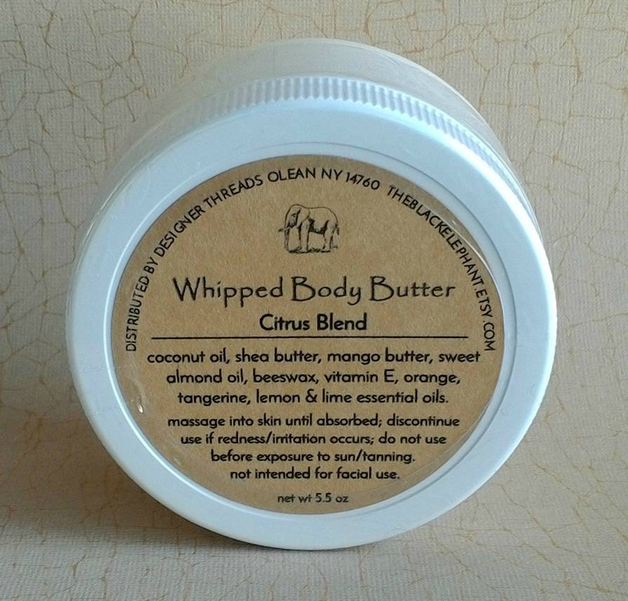 Whipped body butter label the black elephant customer for Body butter labels