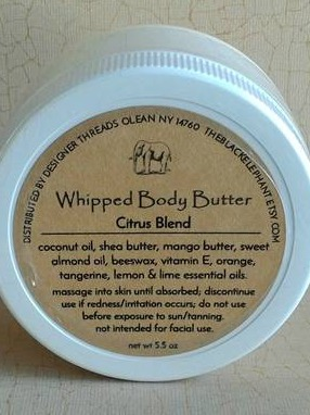 Whipped Body Butter Label--The Black Elephant