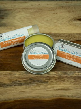Dandelion And Dreams Orange Peppermint Lip Balm Labels