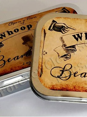 Beard Balm Tin Labels