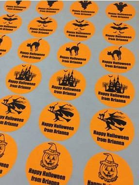 Trick or Treat - Assorted Halloween Party Round Sticker Labels - 24 Count