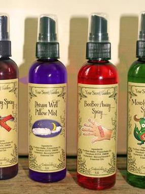 Your Secret Garden, Kids Line, Essential Oil Sprays