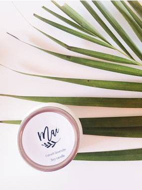 Natural soy wax candle Skincare by Mai