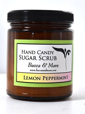 Lemon Peppermint Hand Candy Sugar Scrub