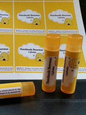 Business Branding Lip Balm Labels